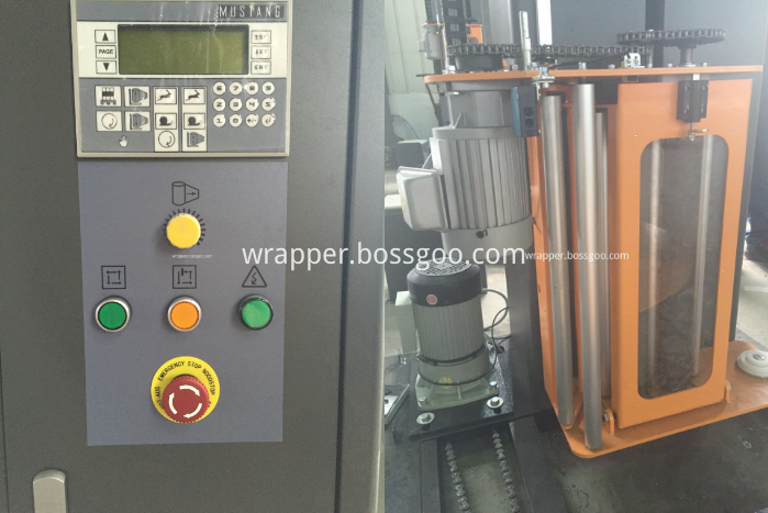 Semi Automatic Packaging Machine (control panel and film carriage)