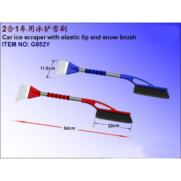 Car Ice Scraper With Elastic Lip And Snow Brush