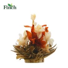 Finch Hot venta belleza flor hecha a mano floreciente té Bai He Hua Lan