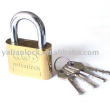 side round golden plated vane padlock