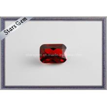 Прямоугольная форма Темно-красный кубический драгоценный камень циркония