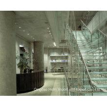 Vidro colorido temperado temperado para escadas