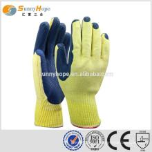 Sunnyhope, forro amarelo, azul, segurança, Industrial, Látex, Borracha, mão, luvas