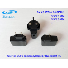 5V 2A Universal Wall Adapter CCTV power supply Power Adapter