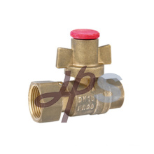 Brass Straight Lockable Ball Valve with Copper Handle
