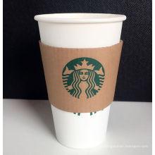 Einmalige kundenspezifische Kaffee Hot Paper Cup mit Deckel