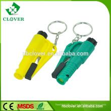 Material plástico multifuncional martillo de emergencia de coche y autobús con cortador de cinturón de seguridad