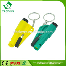 Material plástico multifuncional carro e barramento martelo de emergência com cortador de cinto de segurança