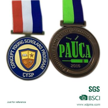 Cobre antigo chapeado medalha esmalte esportes reunião medalha