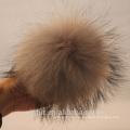 Wholesale Beanie Pom Poms Raccoon Fur Ball Light Grey Fur Poms Accessories
