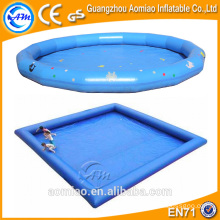 0.9mm PVC High quality inflatable ball pool, square/round inflatable water swimming pool