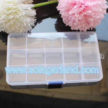 10/15 Slots Clear Adjustable Storage Box Home Organizer