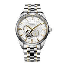 Skeleton Automatic Mens Bracelet Watch