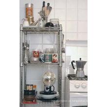 Cremalheira da cozinha do fio de metal do cromo de 3 séries (CJ603590B3)