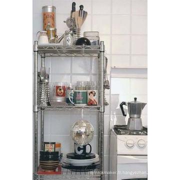 Support de cuisine en métal chromé à 3 niveaux (CJ603590B3)