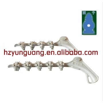 алюминий серьезных зажимов/грозотрос сторона/линии электропередачи кабельные сторона