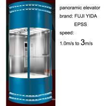 Ascenseur panoramique à chaud avec une vitesse de 3 m / s en 2016