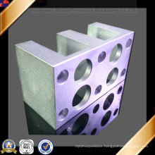 Clear Anodized CNC Aluminum Machined Part for Food machinery