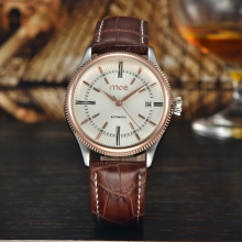 business genuine leather case automatic men watch