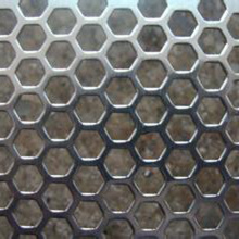 Chapa de metal perfurada ms do furo hexagonal de 1.2mm