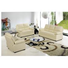 Sofá de la sala de estar con el sofá moderno del cuero genuino (720)