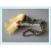 Cortina torcida decorativa Cordão Tieback da borla, corda para a cortina