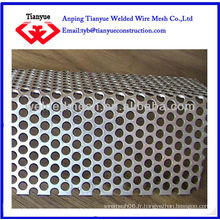Tôle perforée / perforée utilisée pour la construction