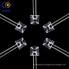 Modisches Design Durch Loch 8mm Wasser klare rote konkave LED Dip-Diode
