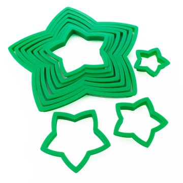 Пластиковый 10PCS 3D Star Cookie Cutter