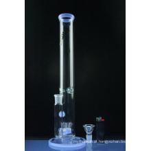 Tubo de água de fumar tubo de vidro em linha reta com aspersor Perc (ES-GB-577)