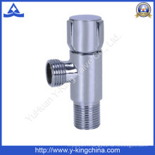 Chrome Polished Brass Angle Valve with Zinc Handle (YD-5031)