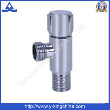 Vanne d'angle en laiton chromée avec poignée en zinc (YD-5031)