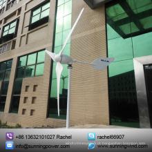 Sunning o gerador de turbina eólica grande do poder 1000W para fora do sistema da fonte de alimentação da grade