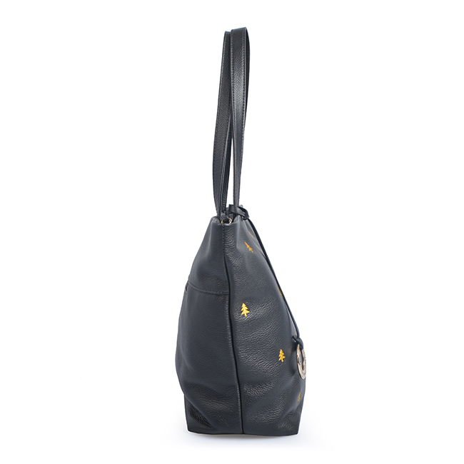 Elegant women handbags Leather embroidery shoulder bag