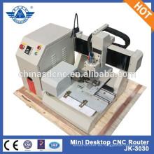 JK-3030 Mini escritorio grabado del CNC máquina talla Artware, Metal, madera