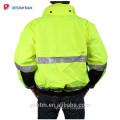ANSI Class 3 Personnalisé Haute Visibilité Réfléchissant Hiver Veste De Sécurité Vêtements De Travail Orange Réversible Haute Vis Capuche Parker