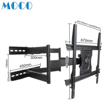 Fully stocked LCD LED 26-55 Inch Television Flexible Extended  Dual Articulating Arm TV Wall Mount Bracket