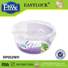 Fabricant 4 côté serrure plastique transparent saladier