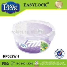Frascos de doces de plástico redondo Easylock