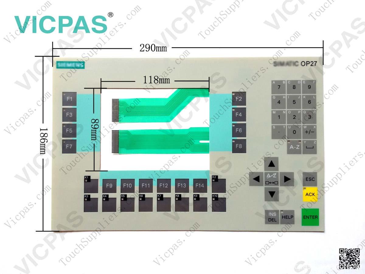6AV3627-7JK00-0AX0 OP27 membrane keyboard keypad