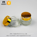 venda quente tamanho diferente de vidro transparente cosmético jar para creme facial