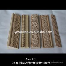 Molduras de madera decorativas de madera de haya tallada molduras decorativas
