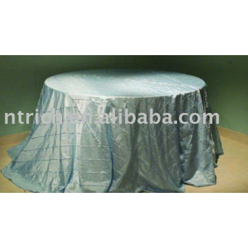 Chameleon/taffeta pintuck tablecloth,hotel/banquet/party table cover