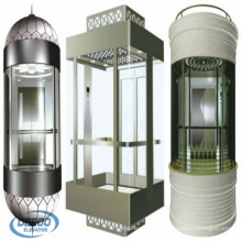 Elevador de cápsulas de vidrio de observación residencial de 6 pasajeros