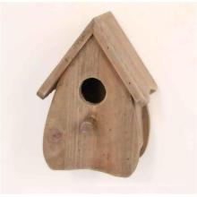 Estilo antiguo madera natural Brown Birdhouse