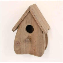 Antique Maison en bois en bois naturel Birdhouse