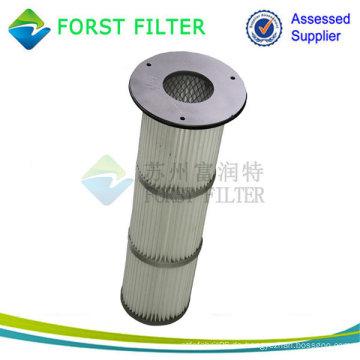 Hochtemperatur-Metall / Gummi-Kappe Top Installierte gefaltete Staubkartuschen-Filter