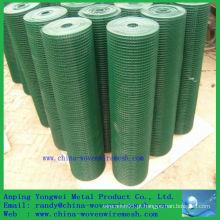 PVC revestido malha de arame de ferro quadrado / cercas de arame, (china alibaba)