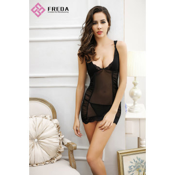 Provocante y Femenino Sexy Lace Chemise Lingerie Thong