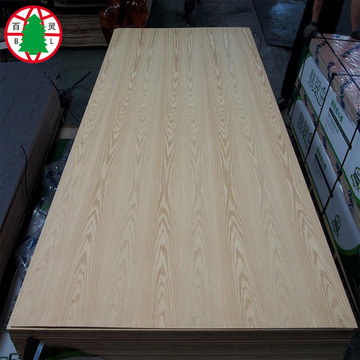 Chapa de fresno natural tablero de lujo MDF 3 mm